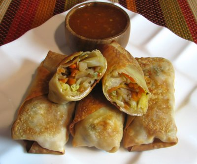 Baked Vegetable Egg Rolls | Free Recipe Network