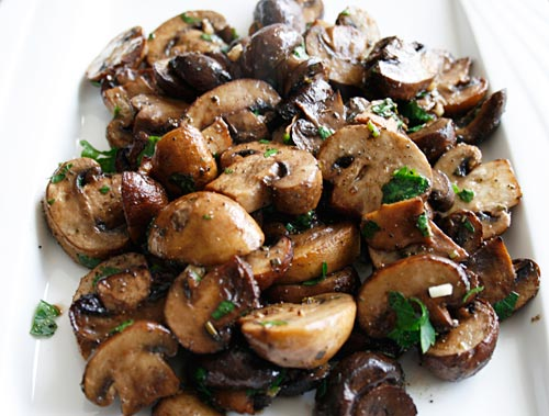 thyme mushrooms and thyme balsamic and thyme roasted portabella