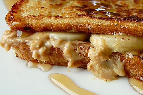 Peanut Butter and Banana Stuffed French Toast |