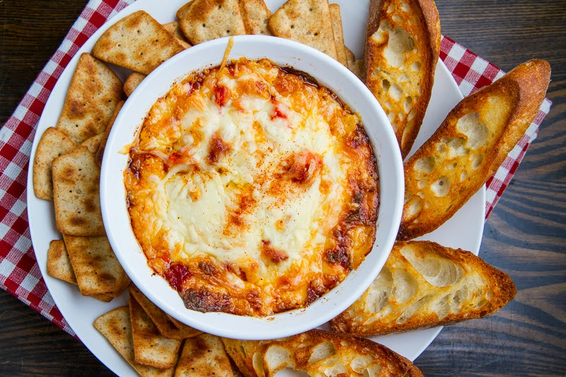 Cheese Hot Roasted Red Pepper Dip..