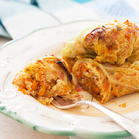 Vegetarian Stuffed Cabbage Rolls | Free Recipe Network
