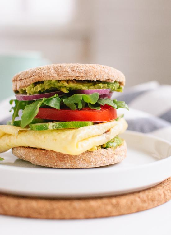 Avocado, Egg and English Muffin Sandwich | Free Recipe Network