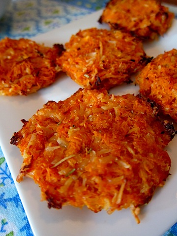 Cheesy Sweet Potato Crisps