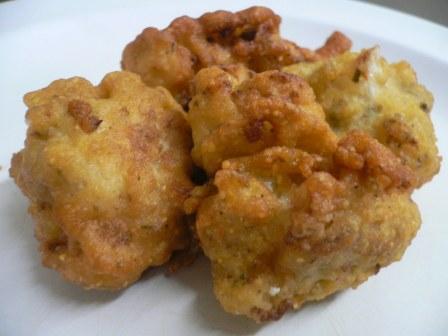 Deep Fried Cauliflower Pieces
