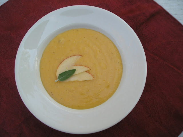 Apple Cheddar Squash Soup