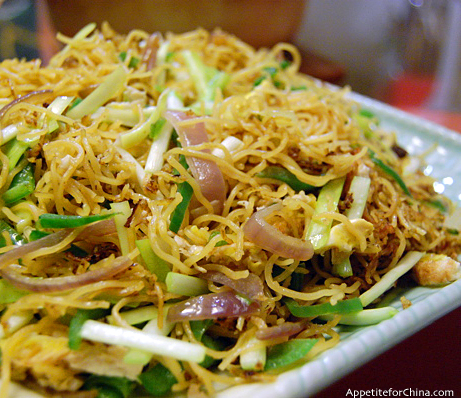 Stir-Fried Vermicelli with Garlic and Scallions