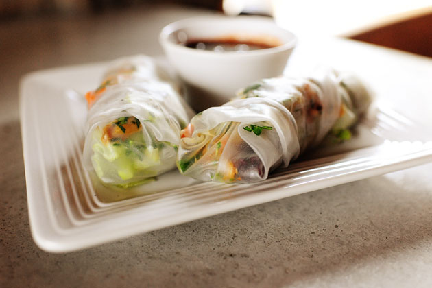 Leftover Turkey Spring Rolls