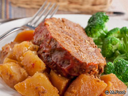 Crockpot Meatloaf & Potatoes
