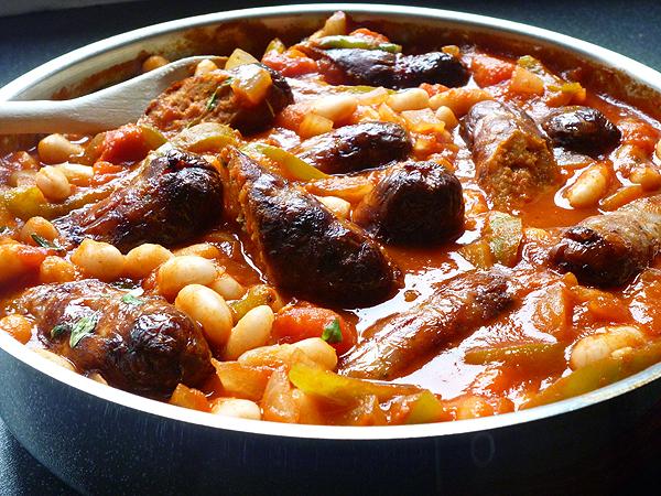 Italian Sausage & Cannellini Bean Casserole