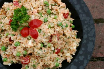 Smoked Salmon and Rice Salad