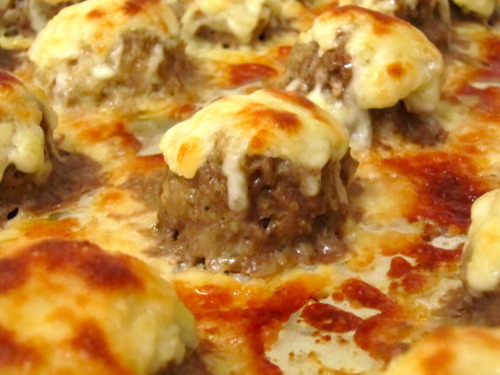 Gooey Cheesy Meatballs