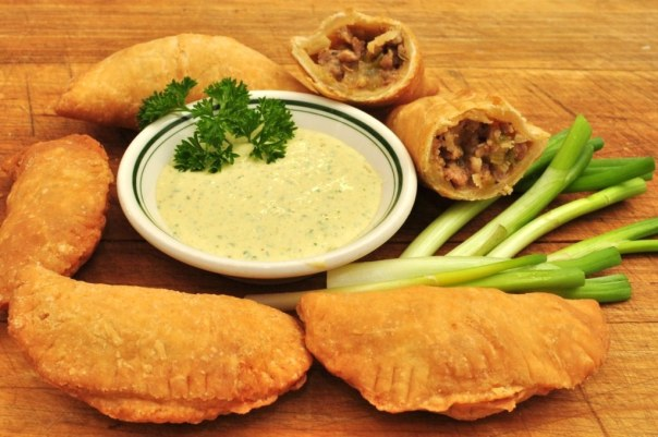 Meat Pies With Cajun Tartar Sauce