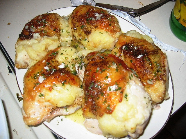 Mashed Potato Stuffed Chicken