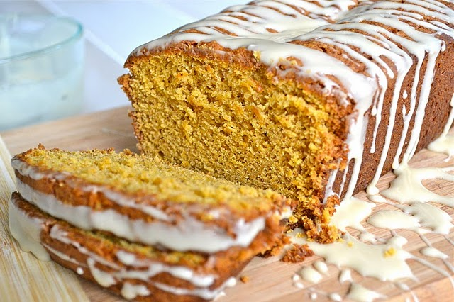 Spiced Sweet Potato and Pecan Bread with Maple Glaze