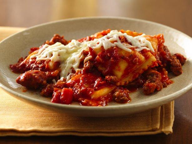 Ravioli Sausage Lasagna