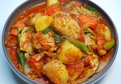 Korean spicy chicken stew free recipe network korean spicy chicken stew forumfinder Image collections