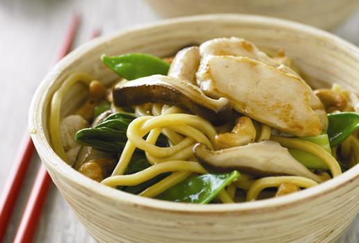 Wild Mushroom and Chicken Stir-Fry
