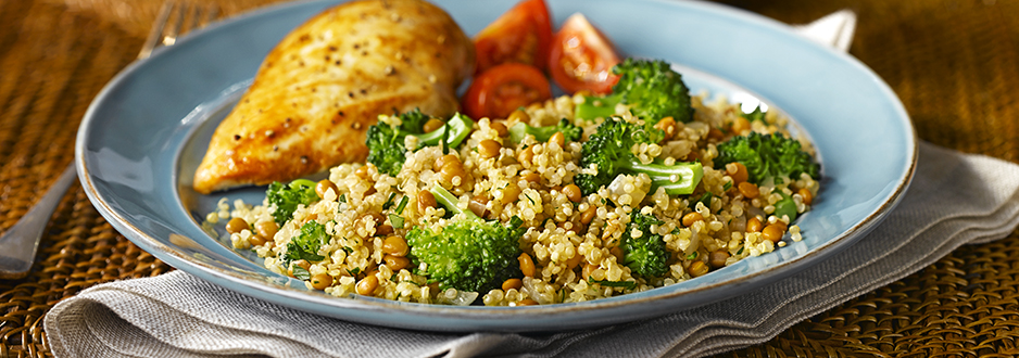 Quinoa and Lentil Salad with Broccoli