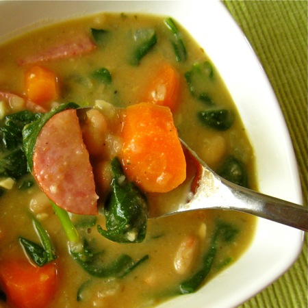 Northern Bean and Spinach Soup