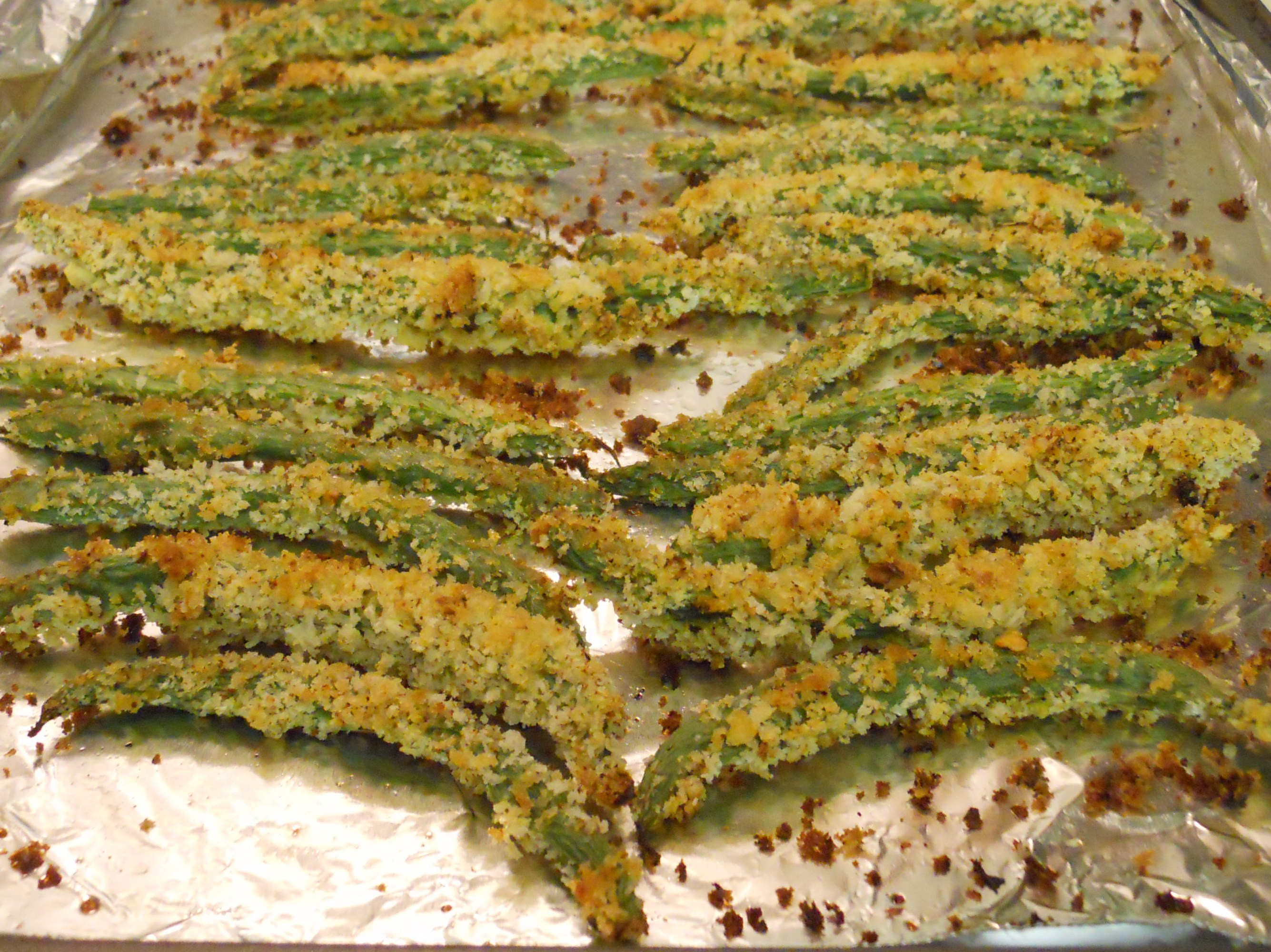 Oven Fried Green Beans