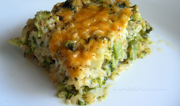 Broccoli Cheese Rice Bake