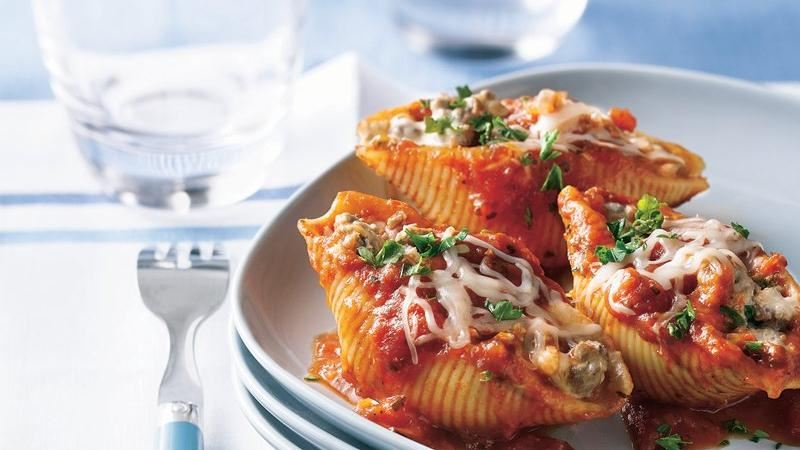 Meat and Cheese Stuffed Pasta Shells