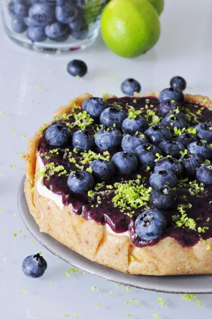 Vegan Blueberry Lime Cheesecake