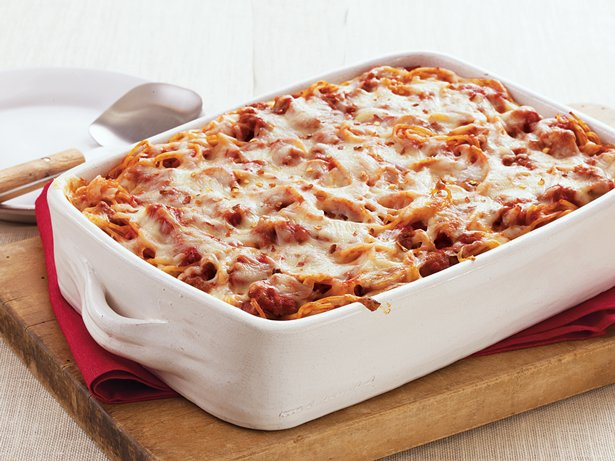 Cream Cheese Spaghetti Casserole