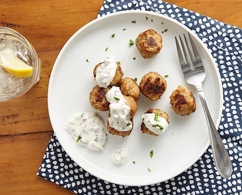 Indian Meatballs and Raita Sauce