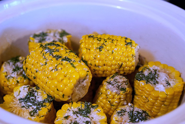 Slow Cooker Creamy Dill Corn on the Cob
