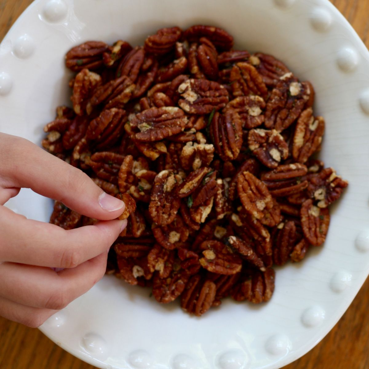 Rosemary-Roasted Pecans