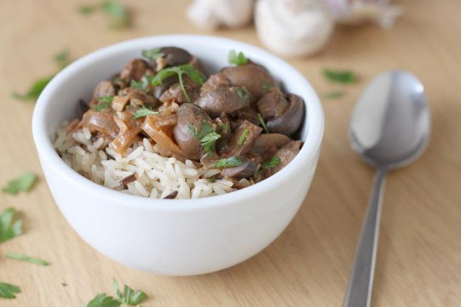 Crock-Pot mushroom stroganoff