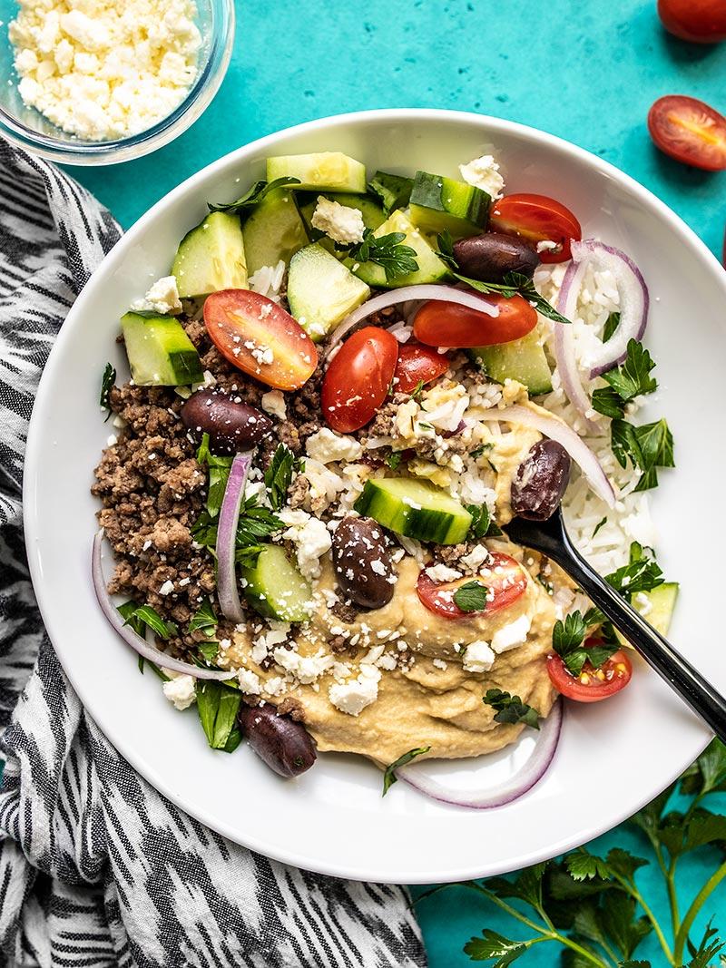 Mediterranean Hummus Bowls