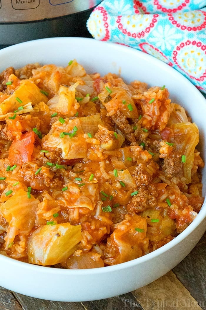 Instant Pot Stuffed Cabbage Casserole