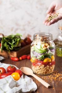 Salads and Nuts for Snacks