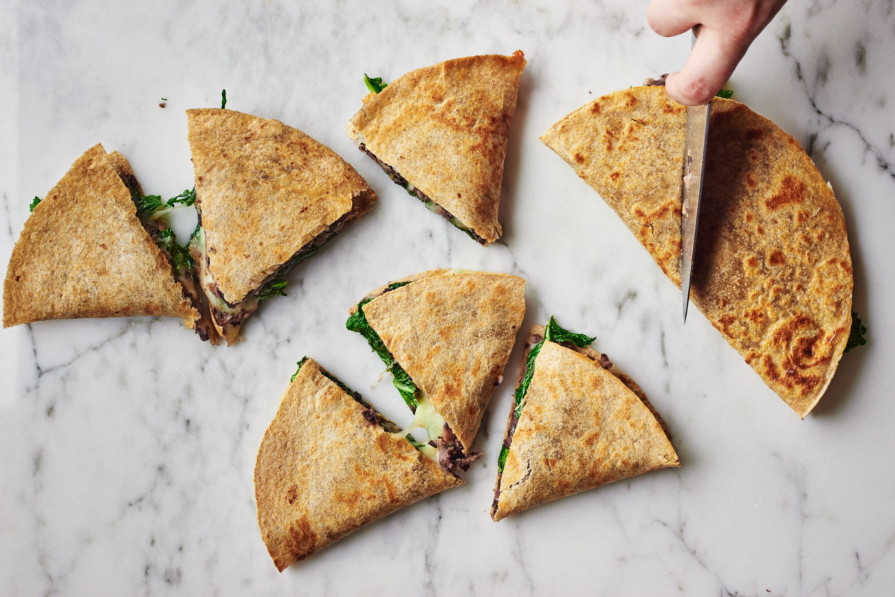 Vegetarian Quesadilla with Broccoli Rabe