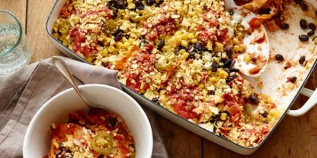 Mexican Bean, Rice and Corn Bake