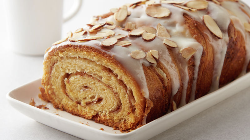 Almond-Cream Cheese Cinnamon Roll Swirl Bread