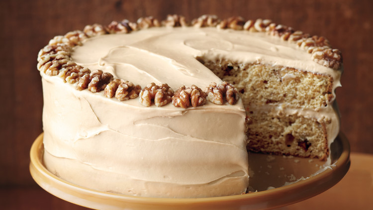 Maple Walnut Cake with Brown-Sugar Frosting