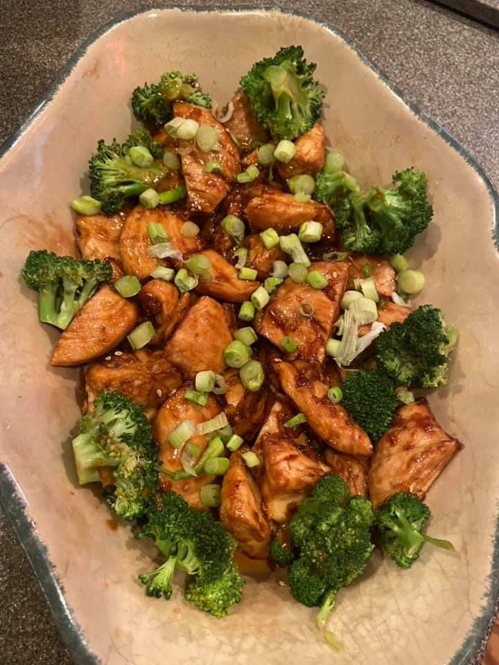 Air Fried Orange Chicken & Broccoli